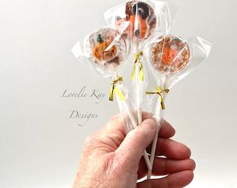 Set Of 3 Faux Halloween Candy Lollipop Sucker Kitchen Halloween Decor Resin Art Set 3 Lorelie Kay Original