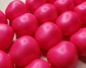 Four (4) Swarovski Crystal RARE Baroque Pearls 5840 Ultra Neon Pink 14mm Bold Hot Neon Bright Bubblegum Summer Fun Wavy Discontinued Big