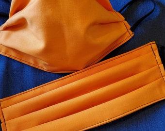 Construction worker orange set of face masks