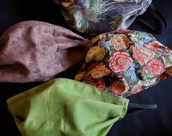 set of woodland fabric masks