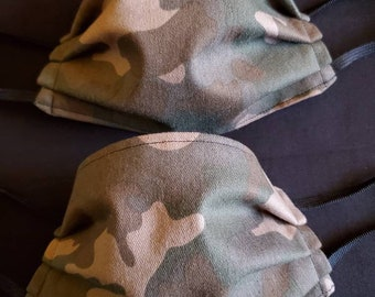 Little warrior kid camo print set child size fabric facemasks