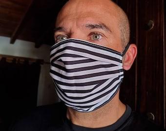 Prison stripes set of fabric masks