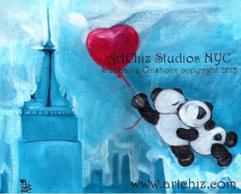 Pandas Kissing Illustration. Art. Two Pandas Kissing while image 0