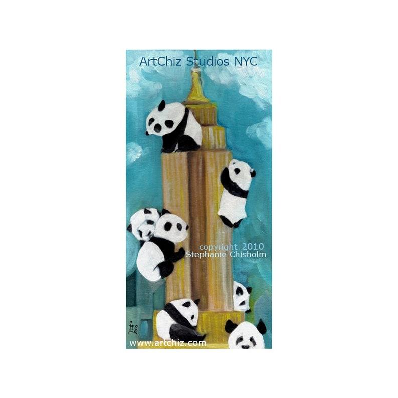 Empire Panda. Panda Art. Panda climbing the Empire State image 0