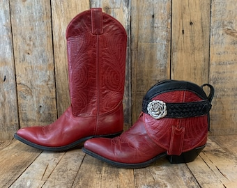 examples of boho boots, upcycled boots, gypsy boots, leather ankle boots, reworked boots, ankle boots women festival boots FREE USA SHIPPING