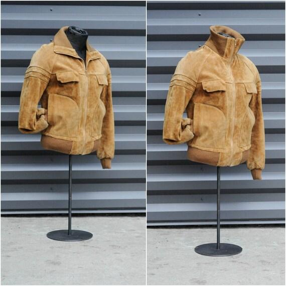 medium, bomber jacket leather jacket men leather … - image 2