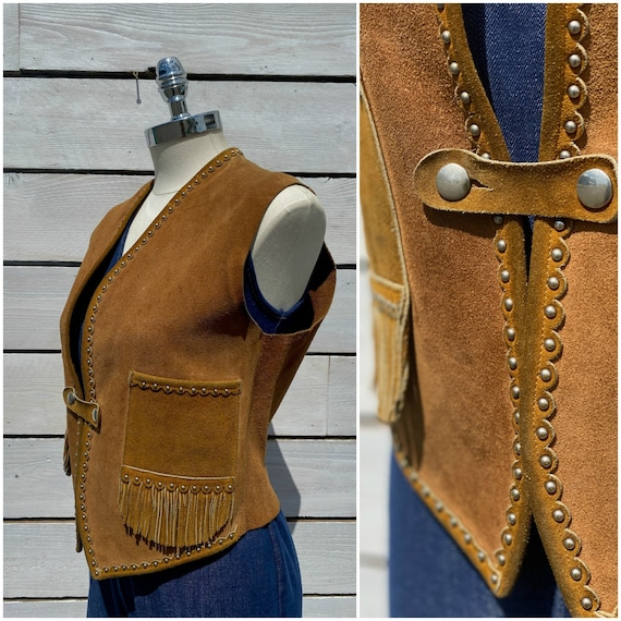 Small, 1940s leather vest, womens leather vest, FR