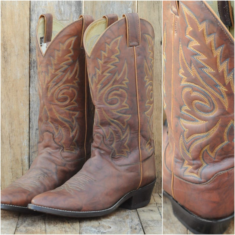 79db2b66f5a5 Us 9.5, Justin vintage cowboy boots, all leather boot made in the USA,  great condition, FREE SHIPPING