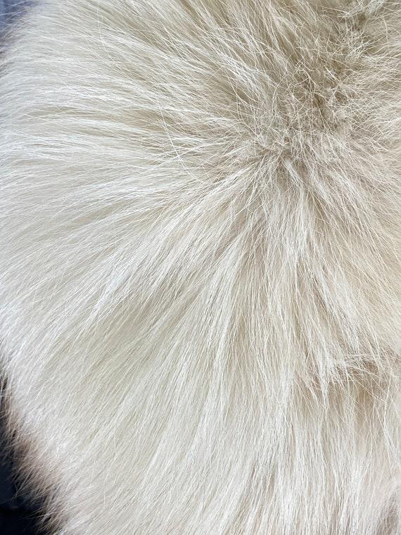 Fox fur stole, white fur stole, white fox fur sto… - image 6