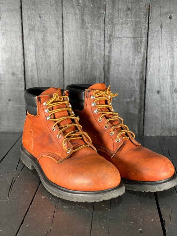 Size 10, red wing work boots, mens hiking boots, v