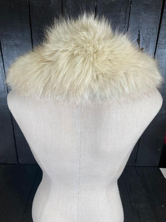 Fox fur stole, white fur stole, white fox fur sto… - image 4