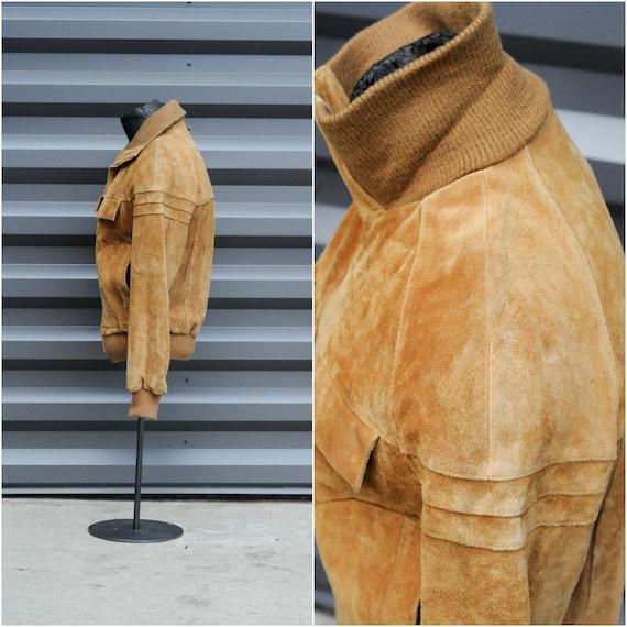 medium, bomber jacket leather jacket men leather … - image 5