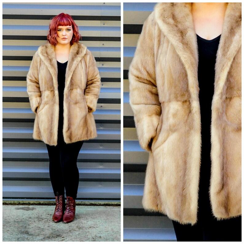 6fed12e1b Medium 1950s mink fur coat with silk lining custom made in | Etsy