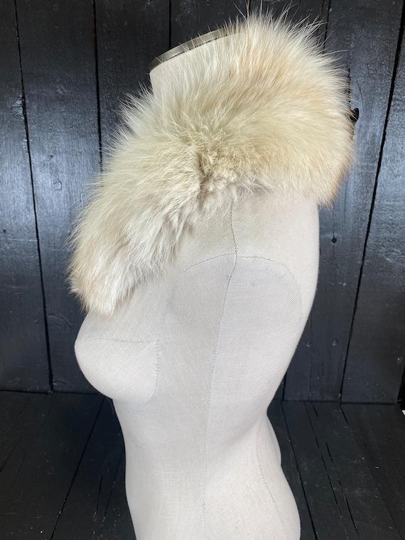 Fox fur stole, white fur stole, white fox fur sto… - image 3