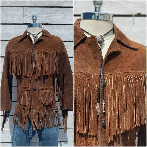 size 36, suede fringe jacket, 1960s leather jacket