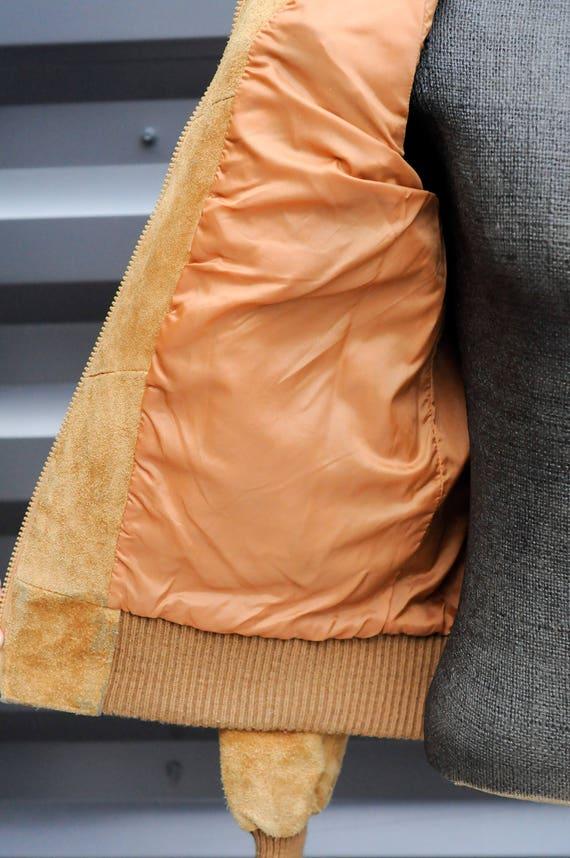 medium, bomber jacket leather jacket men leather … - image 6