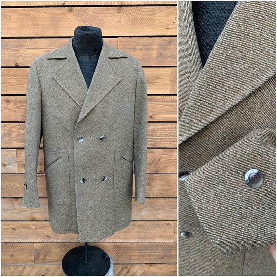 XL, wool overcoat, 1970s winter coat, vintage wint