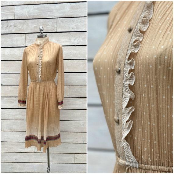 medium, 1970s prairie dress, 1970s sundress, FREE