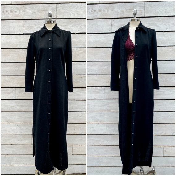 small, vintage duster, 1970s duster, FREE USA SHIP
