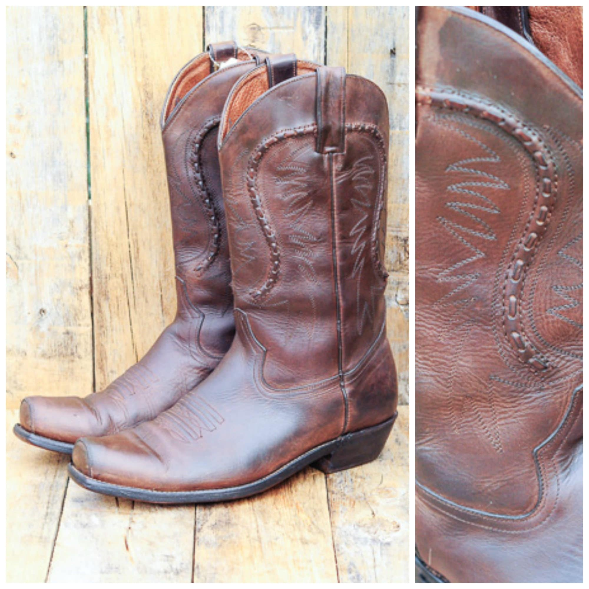 b6e8c1907d6 Us 10 men Gold Rush vintage cowboy boots Mexico made in
