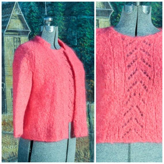 Small, chunky knit sweater,hand knit sweater,wool