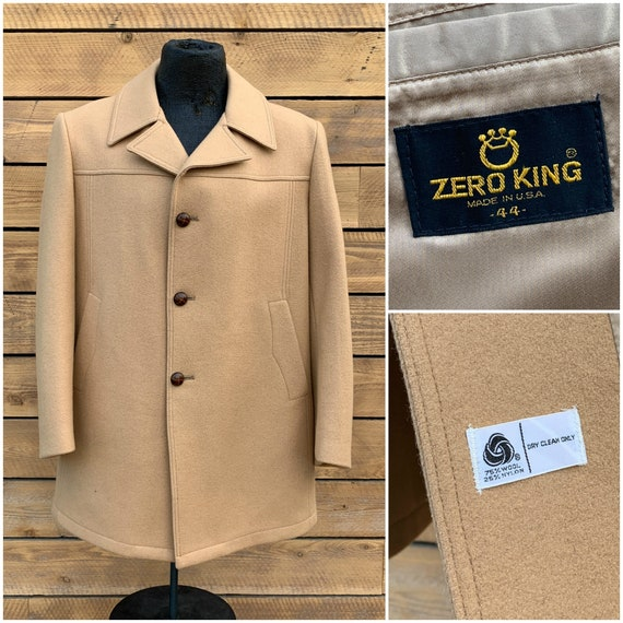 XL, mens winter coat, 1950s winter coat,