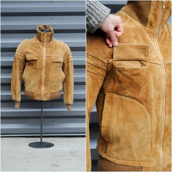 medium, bomber jacket leather jacket men leather … - image 4