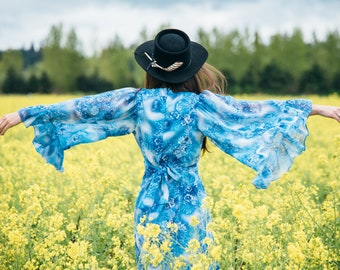Wild Flower Dress boho dress boho clothing vintage dress bohemian dress bohemian clothing hippie clothing hippie dress 1960s  prairie dress