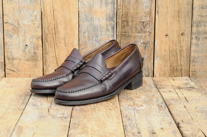 01c86a91ebe Us 11.5 LL Bean Loafers oxblood leather dress shoes USA