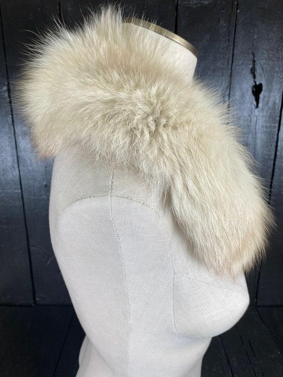 Fox fur stole, white fur stole, white fox fur sto… - image 5