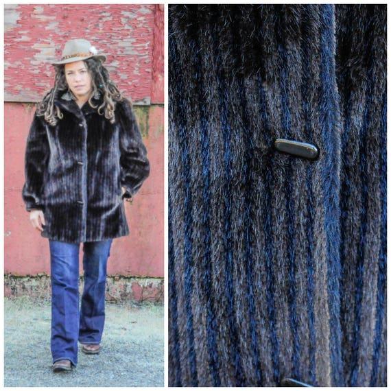 large, vegan coat, vintage winter coat, boho coat,