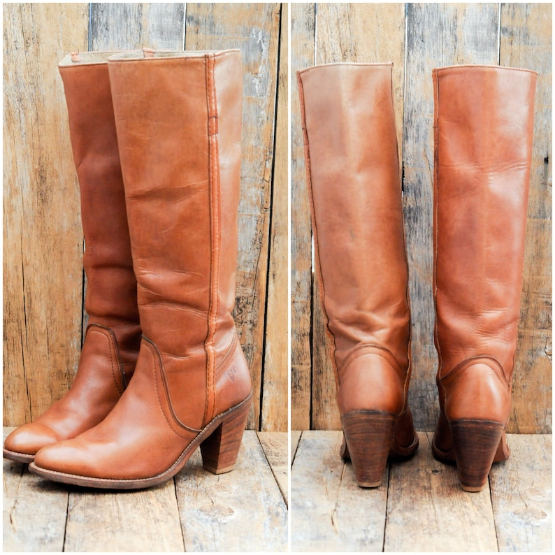 349aac531826a Us 7.5, Vintage Frye Boot, vintage leather boots, USA made in great  condition, FREE SHIPPING