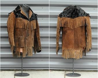 large, leather jacket fringe jacket beat up jacket old jacket old leather jacket Bad Ass jacket Moto Bad Boy hippie renegade western