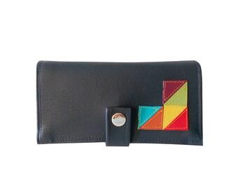 GeoTriangles ) Pocketbook Slash Checkbook Holder