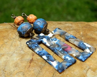 Boho Resin Earrings