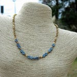 RESERVED for WILMA MATHIS Boho Czech Bead Choker Necklace