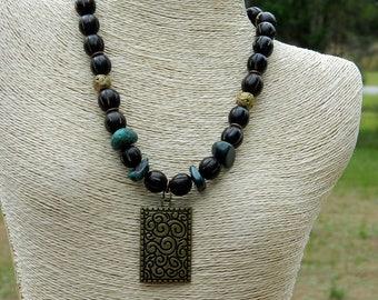Buri Seed Beaded Necklace