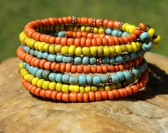 Indonesian Bead  Boho Bangle