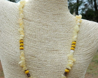 Boho Citrine Gemstone Necklace