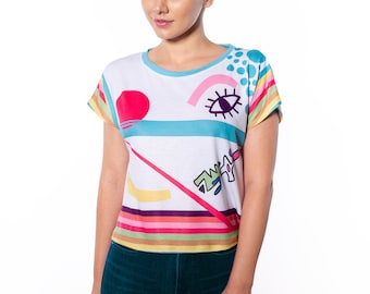 Hand Drawn Playful Print Relax Fit Tee