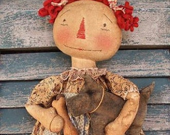 E-Pattern Scotty Dog Annie Primitive Doll PATTERN PDF