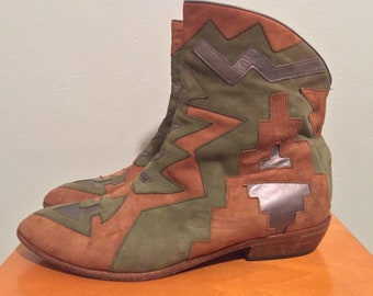aa840ed612fa3 Vintage Every Body Vero Cuoio western ankle boots   Made in Italy   size 9  women