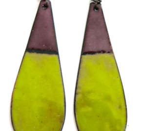 Teardrop Enamel Earrings