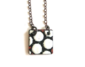 Square Enamel Necklace