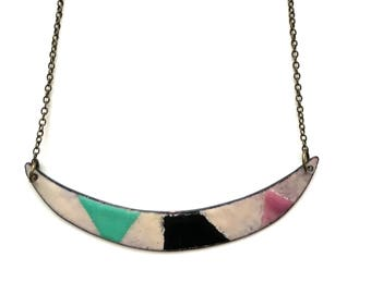 Geometric Enamel Necklace