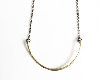 Half Moon Brass Necklace