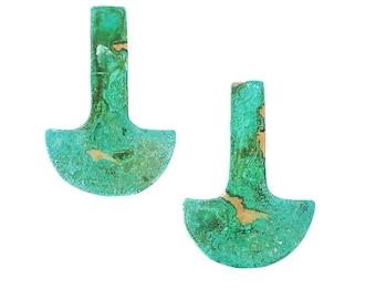 Patina Stud Geometric Earrings