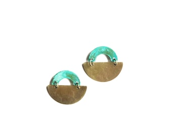 Patina Arch Earrings