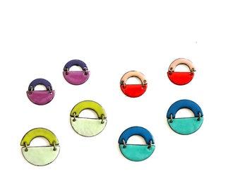 Arch Enamel Earrings-choose your color!