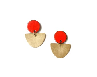Brass and Red Enamel